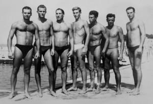 Momčad V. K. Gusar 1957. godine Pero Ivelja, Neno Hajdić, Pasko Marojica, Pavo Bego, Mato Bolotin, Ivica Moreti, Stijepo Duper